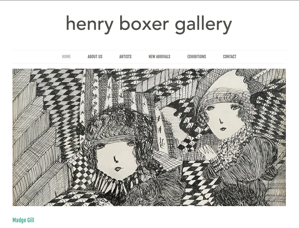 Snapshot of  Henry Boxer Gallery website