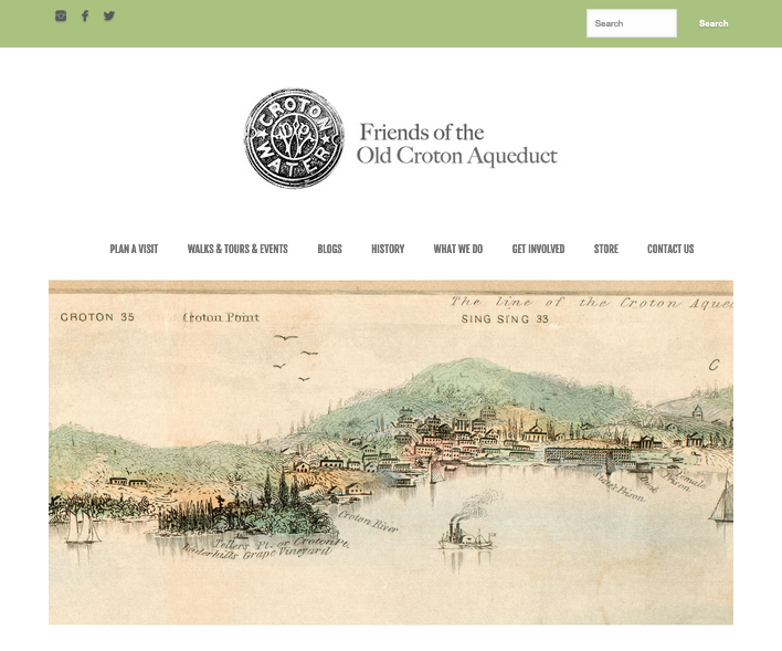 Snapshot of Freidns of the Old Croton Aqueduct website