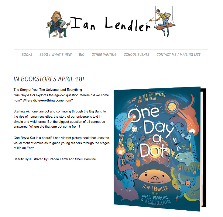 Snapshot of Ian Lendler website
